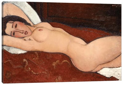 Reclining Nude, 1917 Canvas Art Print