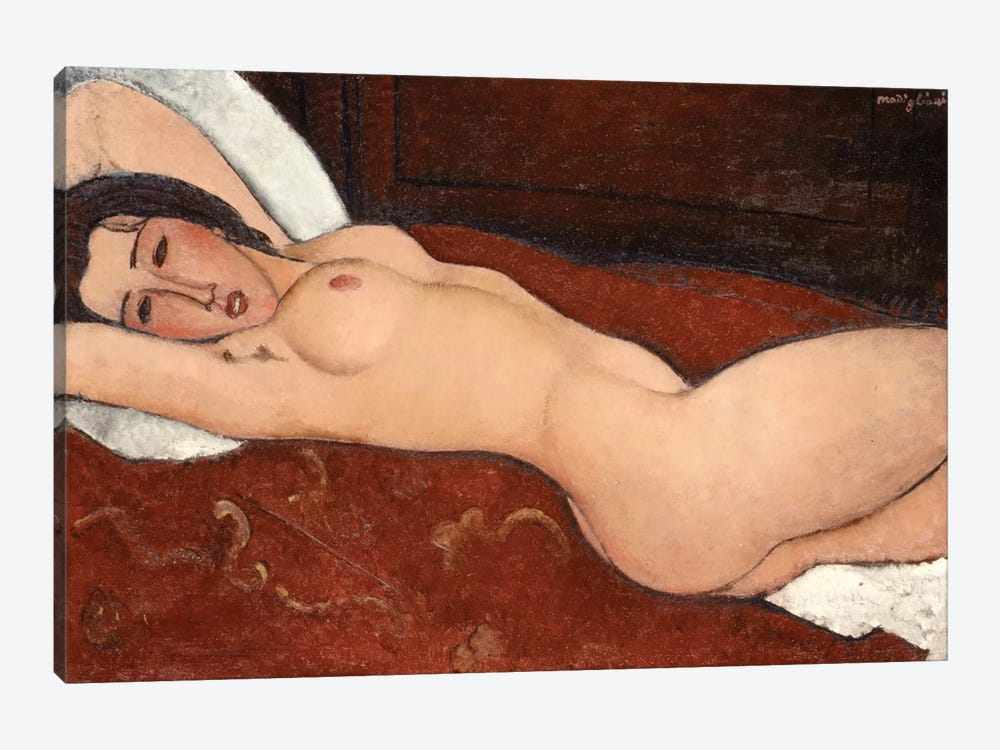 Reclining Nude, 1917 by Amedeo Modigliani 1-piece Canvas Print