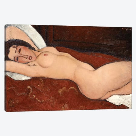 Reclining Nude, 1917 Canvas Print #BMN6986} by Amedeo Modigliani Canvas Print