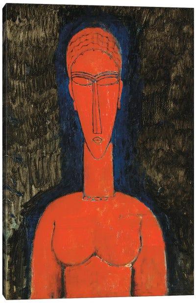 Red Bust, Caryatid, 1913 Canvas Art Print