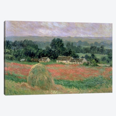 Haystack at Giverny, 1886  Canvas Print #BMN698} by Claude Monet Canvas Print