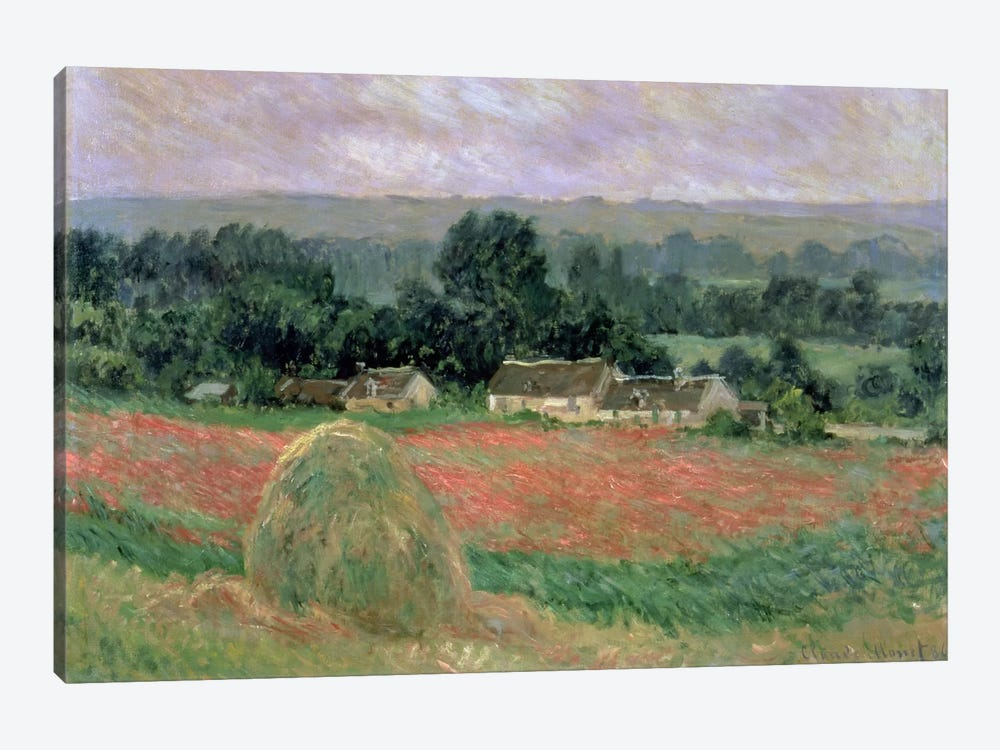 Haystack at Giverny, 1886  by Claude Monet 1-piece Canvas Wall Art