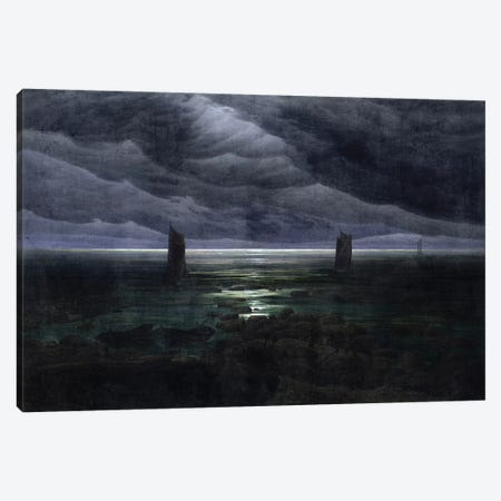 Sea Shore In Moonlight, 1835-36 Canvas Print #BMN6991} by Caspar David Friedrich Canvas Art Print
