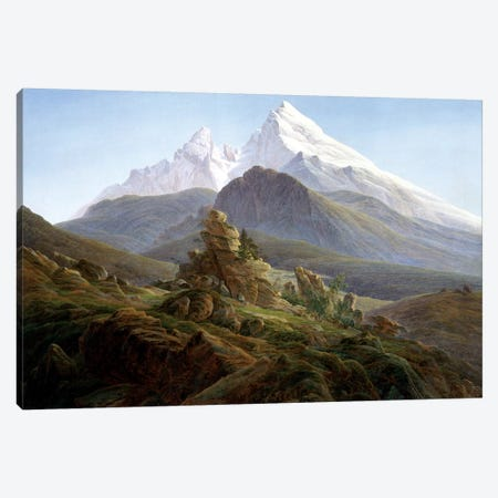 The Watzmann Canvas Print #BMN6993} by Caspar David Friedrich Art Print