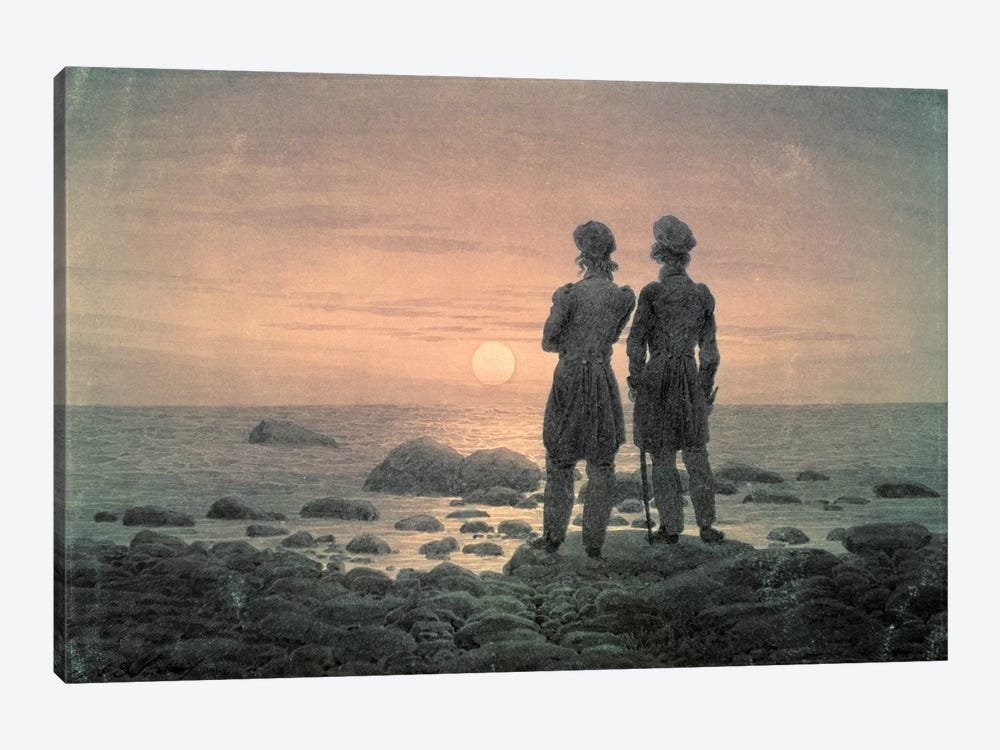 Two Men By The Sea by Caspar David Friedrich 1-piece Canvas Artwork