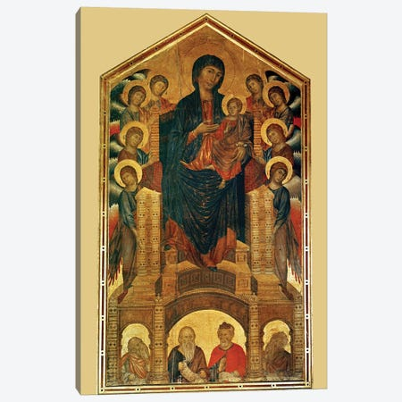 Virgin And Child Enthroned, And Prophets (Santa Trinita Maestà), c.1280-85 Canvas Print #BMN6995} by Cimabue Canvas Art