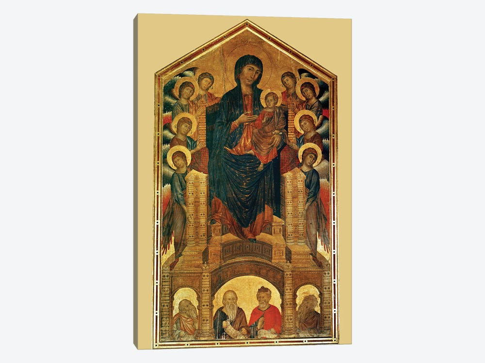 Virgin And Child Enthroned, And Prophets (Santa Trinita Maestà), c.1280-85 by Cimabue 1-piece Canvas Print