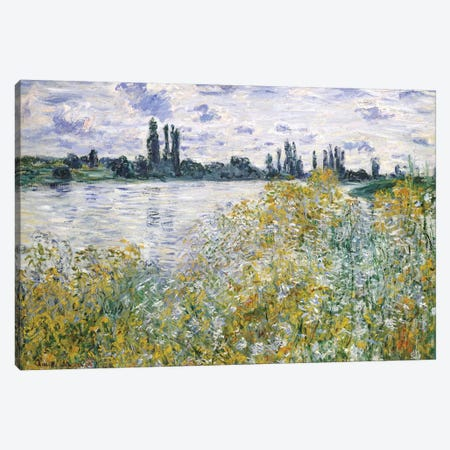 Ile aux Fleurs Near Vetheuil, 1880 Canvas Print #BMN6997} by Claude Monet Canvas Wall Art