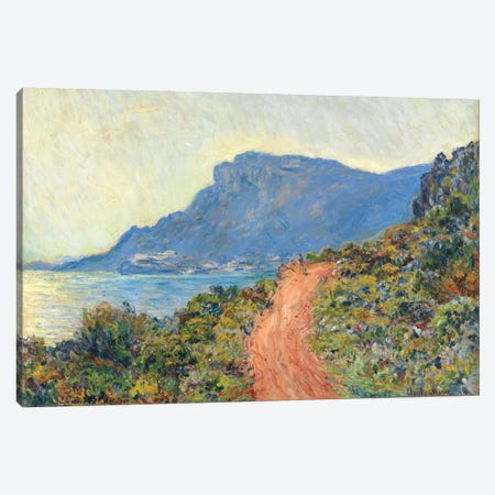 La Corniche Near Monaco, 1884 Canvas Print #BMN6998} by Claude Monet Canvas Print