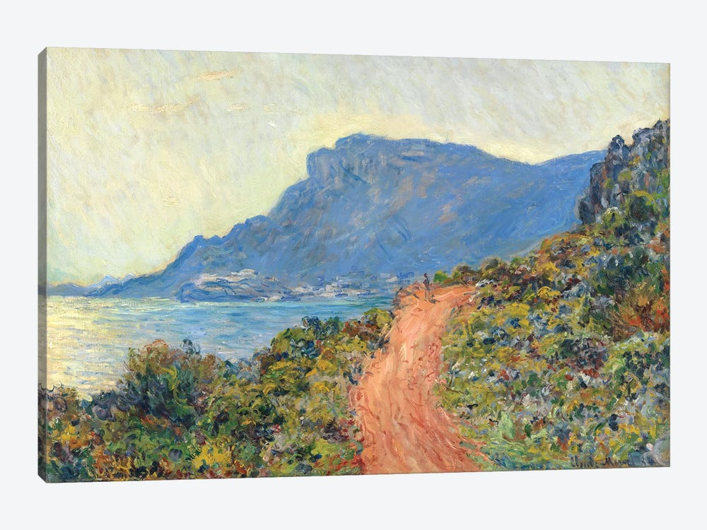 La Corniche Near Monaco, 1884 by Claude Monet 1-piece Canvas Wall Art