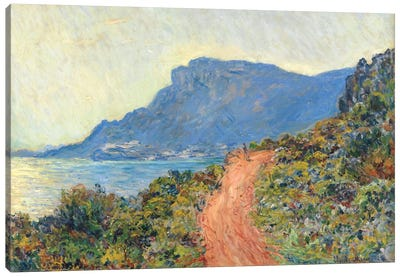 La Corniche Near Monaco, 1884 Canvas Art Print