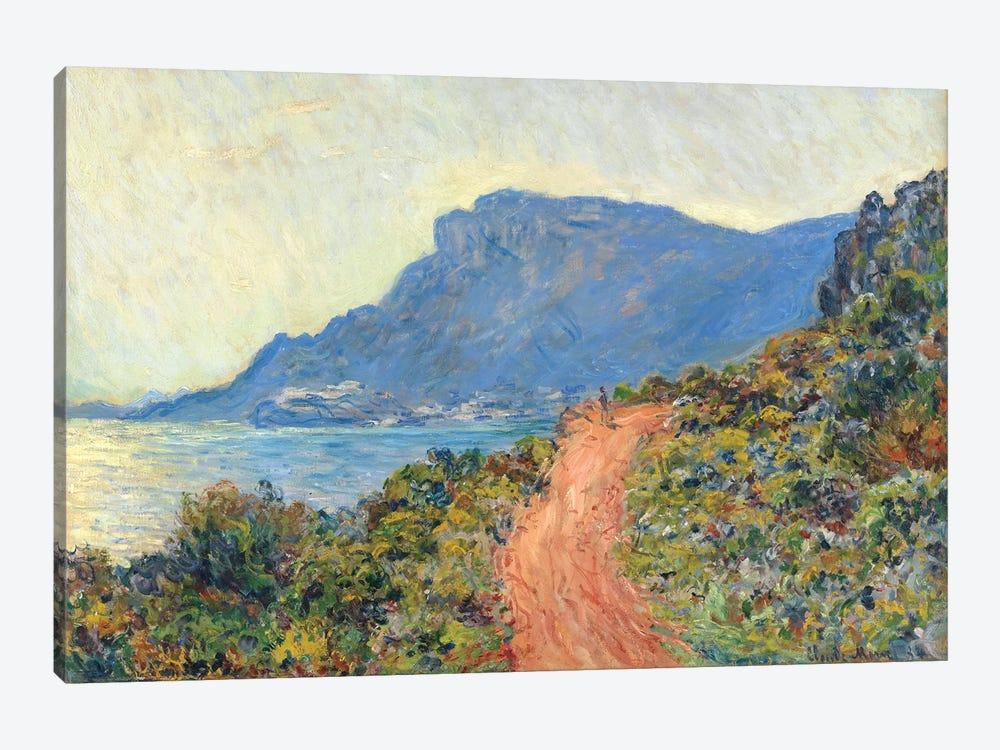 La Corniche Near Monaco, 1884 by Claude Monet 1-piece Canvas Wall Art