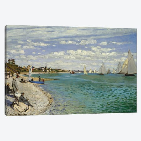 Regatta At Sainte-Adresse, 1867 Canvas Print #BMN6999} by Claude Monet Canvas Print
