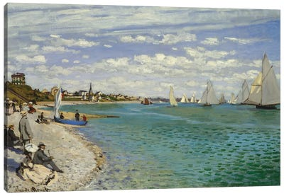Regatta At Sainte-Adresse, 1867 Canvas Art Print
