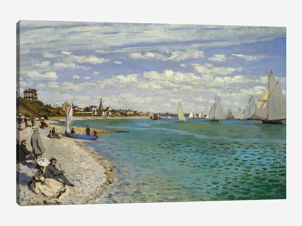 Regatta At Sainte-Adresse, 1867 by Claude Monet 1-piece Art Print