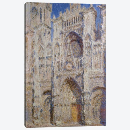 Rouen Cathedral: The Portal (Sunlight), 1894 Canvas Print #BMN7000} by Claude Monet Canvas Art