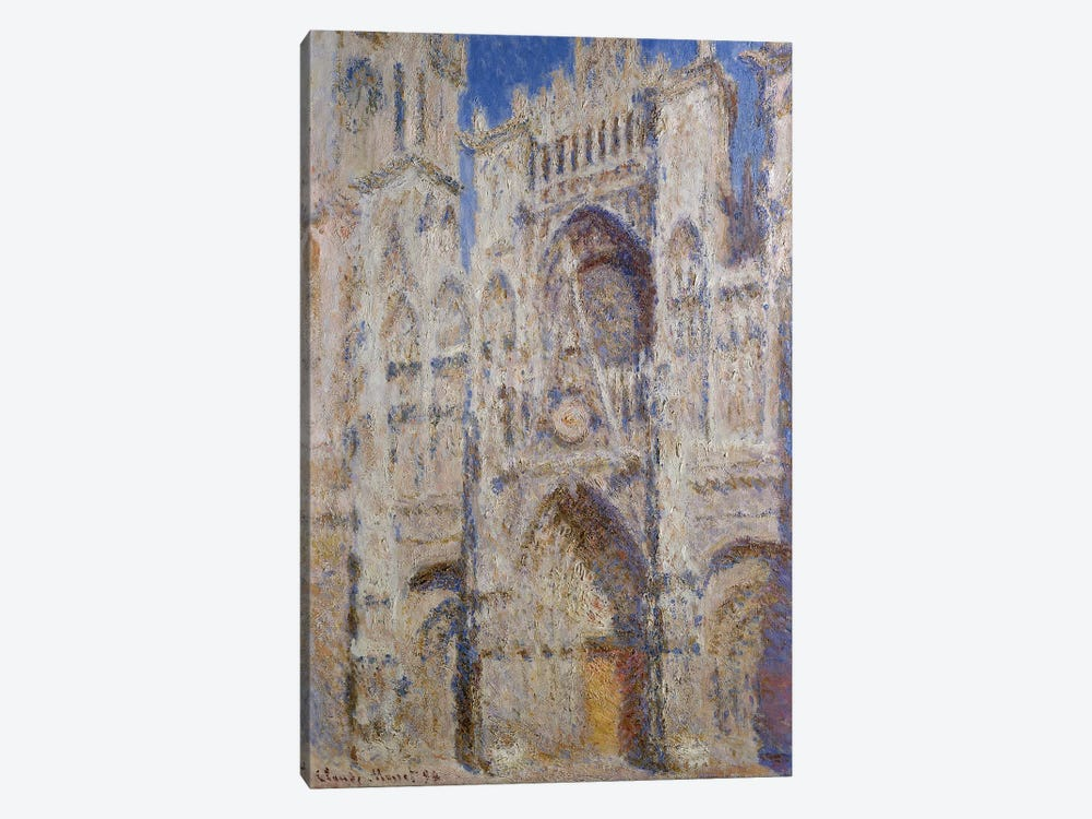Rouen Cathedral: The Portal (Sunlight), 1894 by Claude Monet 1-piece Canvas Print