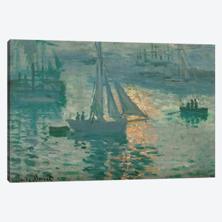 Sunrise (Marine), 1873 Canvas Print #BMN7001} by Claude Monet Canvas Wall Art