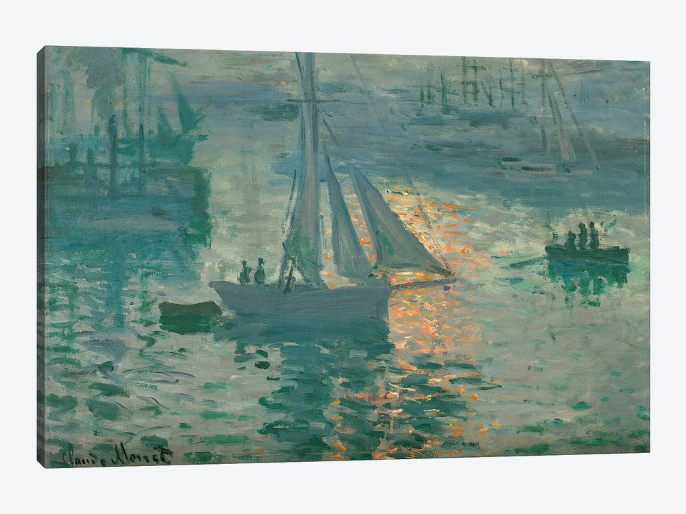Sunrise (Marine), 1873 by Claude Monet 1-piece Canvas Art