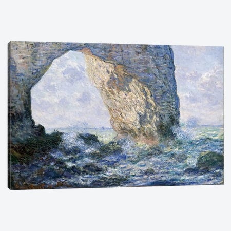 The Manneporte (Etretat), 1883 Canvas Print #BMN7002} by Claude Monet Canvas Art