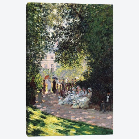 The Parc Monceau, 1878 Canvas Print #BMN7003} by Claude Monet Canvas Artwork