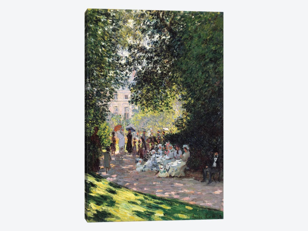 The Parc Monceau, 1878 by Claude Monet 1-piece Canvas Art
