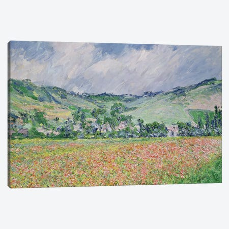 The Poppy Field Near Giverny, 1885 Canvas Print #BMN7004} by Claude Monet Art Print