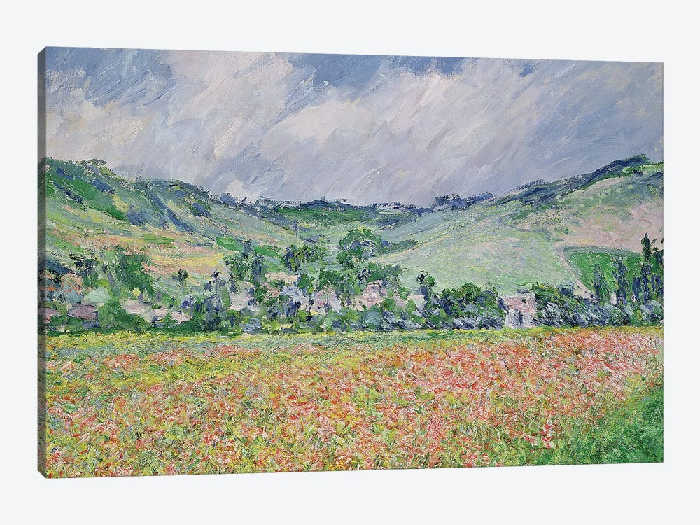 The Poppy Field Near Giverny, 1885 by Claude Monet 1-piece Art Print