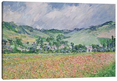The Poppy Field Near Giverny, 1885 Canvas Art Print