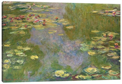 Water Lilies, 1919 Canvas Art Print
