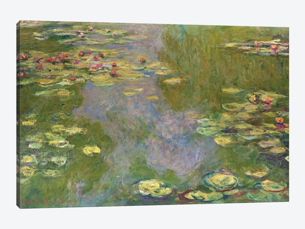 Water Lilies, 1919 by Claude Monet 1-piece Canvas Wall Art