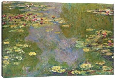 Water Lilies, 1919 Canvas Art Print