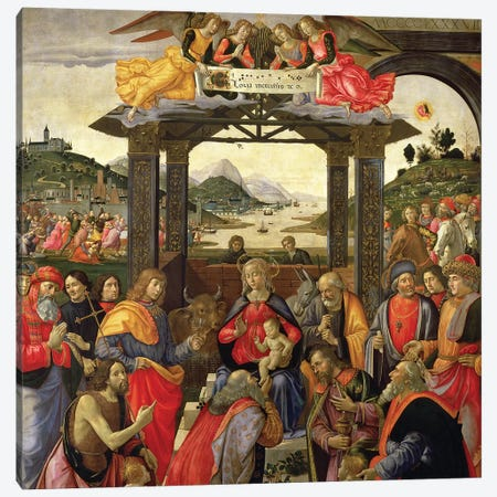 The Adoration Of The Magi, 1488 Canvas Print #BMN7008} by Domenico Ghirlandaio Canvas Art