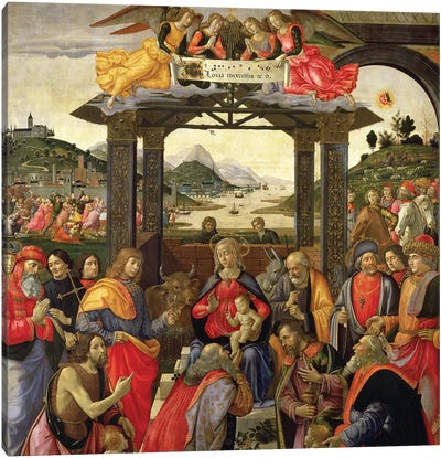 The Adoration Of The Magi, 1488 Canvas Art Print