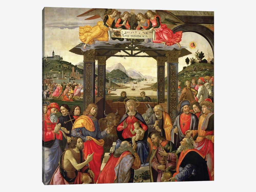 The Adoration Of The Magi, 1488 by Domenico Ghirlandaio 1-piece Art Print