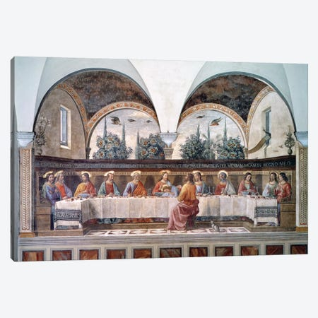 The Last Supper Canvas Print #BMN7009} by Domenico Ghirlandaio Canvas Art