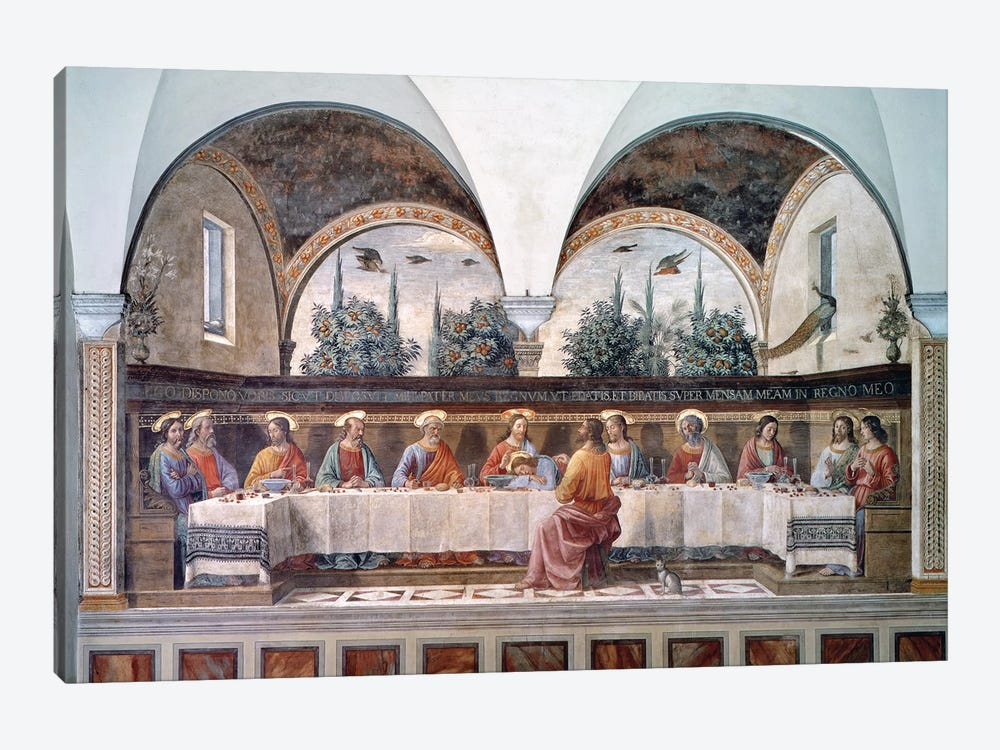 The Last Supper by Domenico Ghirlandaio 1-piece Canvas Wall Art