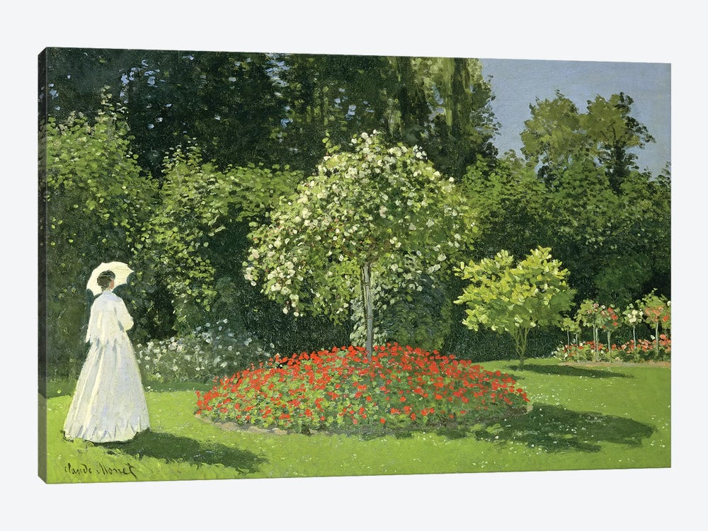 Jeanne Marie Lecadre In The Garden, 1866  by Claude Monet 1-piece Canvas Wall Art