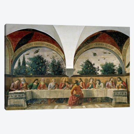 The Last Supper, 1480 Canvas Print #BMN7010} by Domenico Ghirlandaio Canvas Print