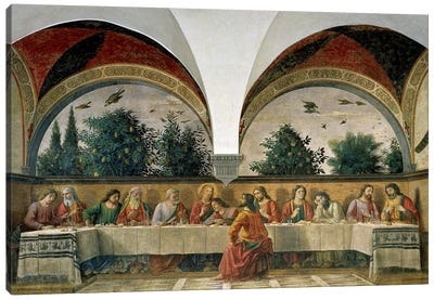 The Last Supper, 1480 Canvas Art Print