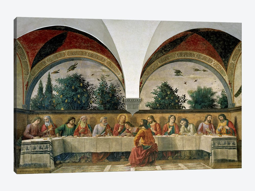 The Last Supper, 1480 by Domenico Ghirlandaio 1-piece Canvas Art
