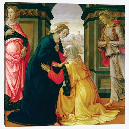 The Visitation, 1491 Canvas Print #BMN7011} by Domenico Ghirlandaio Canvas Print