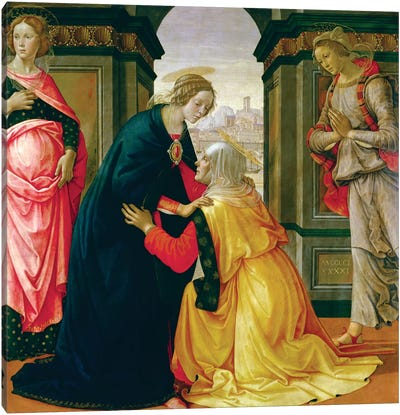 The Visitation, 1491 Canvas Art Print