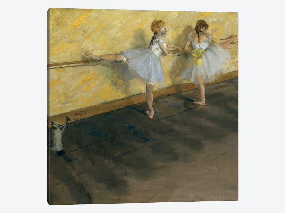 Dancers Practising At The Barre, 1877 by Edgar Degas 1-piece Canvas Art