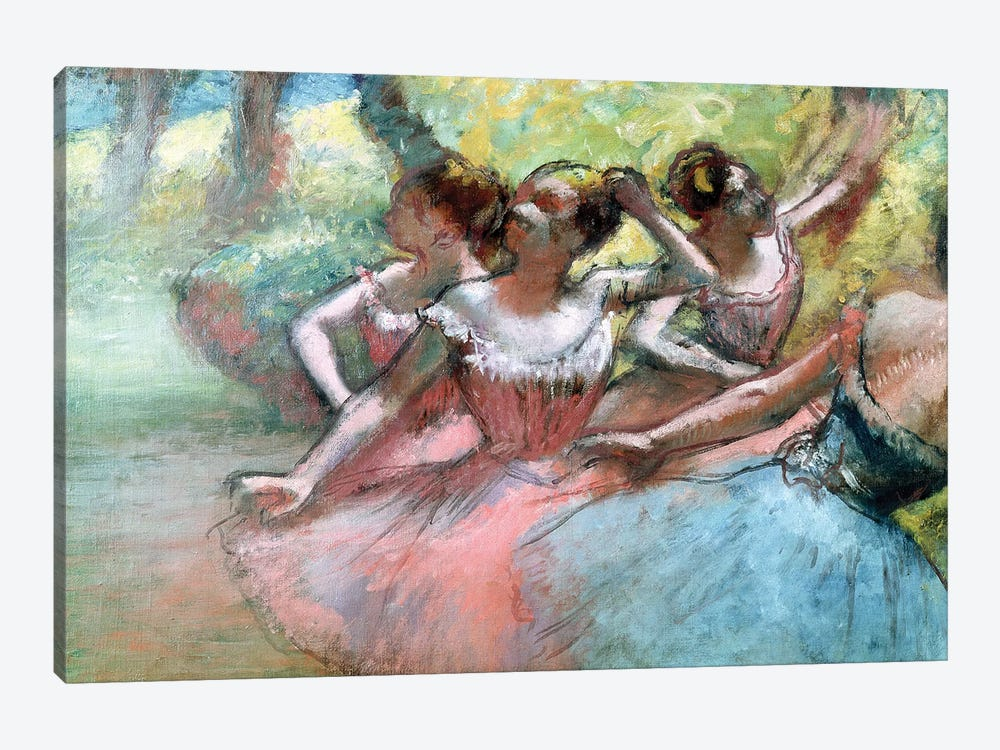 Four Ballerinas On The Stage by Edgar Degas 1-piece Art Print