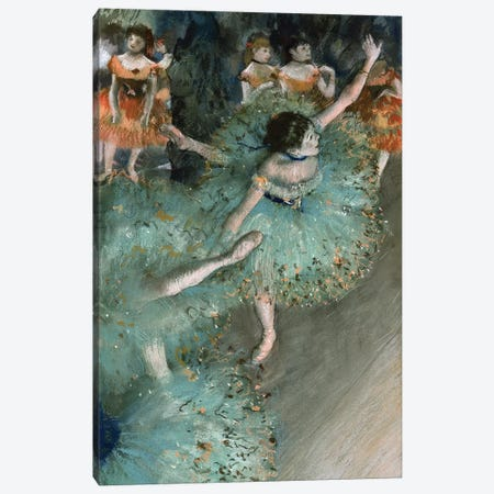 Swaying Dancer (Dancer In Green), 1877-79 Canvas Print #BMN7014} by Edgar Degas Canvas Wall Art
