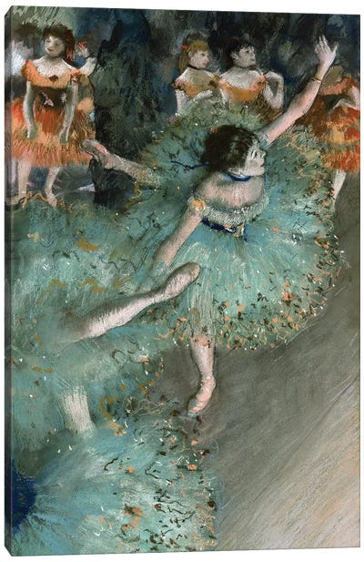 Swaying Dancer (Dancer In Green), 1877-79 Canvas Art Print