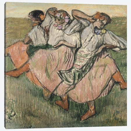 Three Russian Dancers Canvas Print #BMN7015} by Edgar Degas Canvas Art