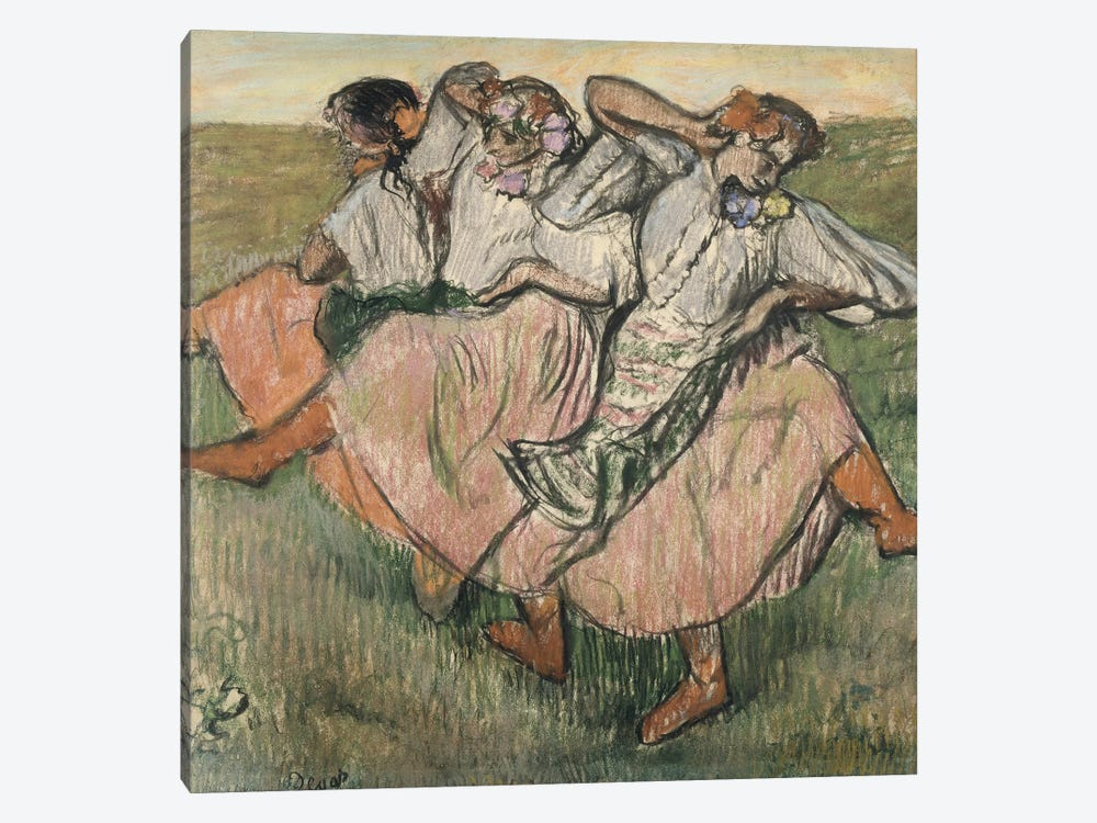 Three Russian Dancers by Edgar Degas 1-piece Canvas Art Print
