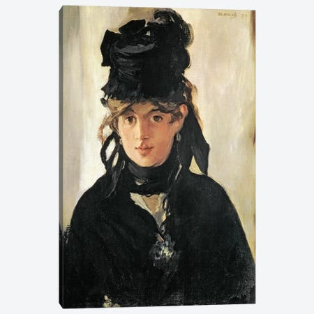 Berthe Morisot With A Bouquet Of Violets, 1872 Canvas Print #BMN7016} by Edouard Manet Canvas Art